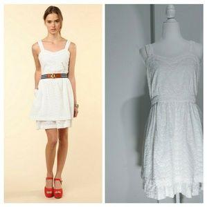 APC. Madras eyelet white dress Size M